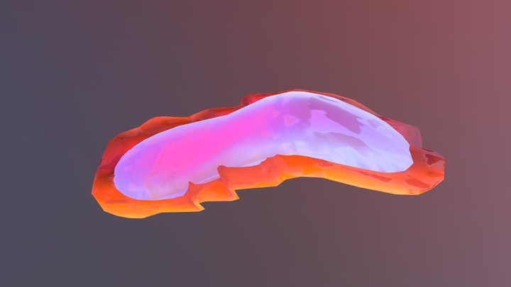 Fuschia Flatworm 3D Model