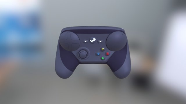 Lowpoly Steam Controller 3D Model