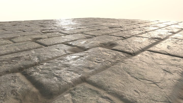 Old Stone Tile (With Displacement) 3D Model