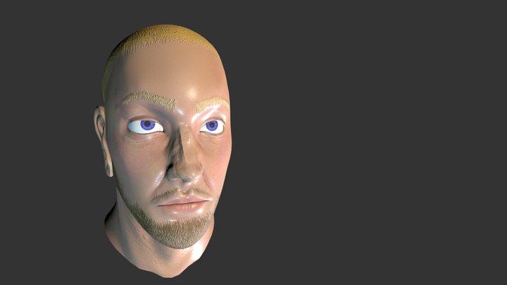 Kiefer Sutherland (80s) 3D Model