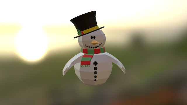 AS Xmas SnowMan Puppet 3D Model