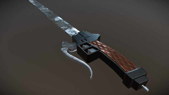 Attack On Titan: Gear Sword - Low Poly 3D Model