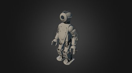 HR-OS5 Humanoid Research Robot - Orion v2 3D Model