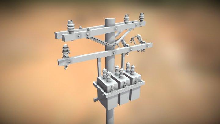 Square Transformer Bank - 1/24 Scale