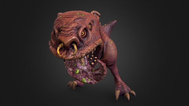 Toxic Squig 3D Model