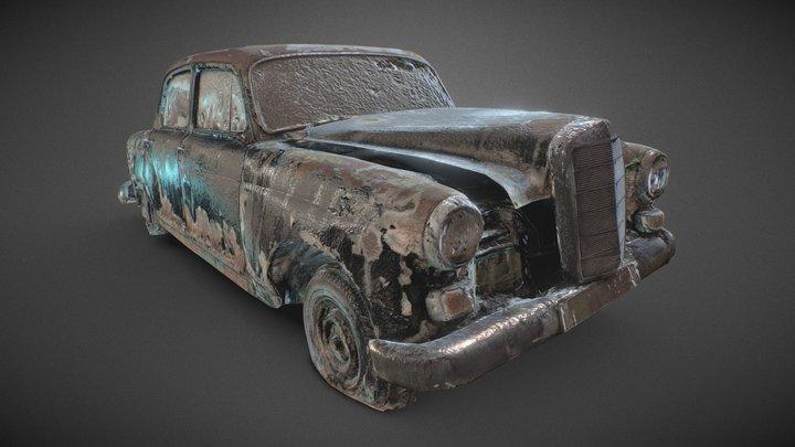 1960 Mercedes-Benz Ponton 190 3D Model