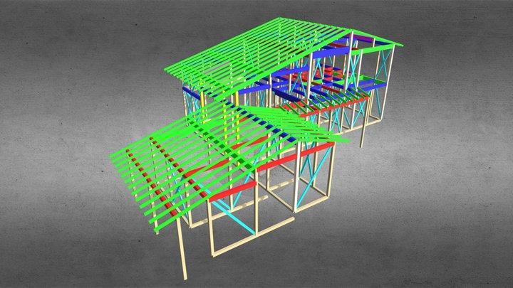 2014w H邸(奈良)設計工房フウカ 3D Model