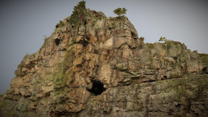 Site escalade Mer de Glace - La Grotte 3D Model