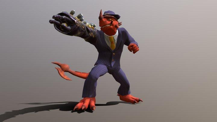 Vinny the Lizard 3D Model