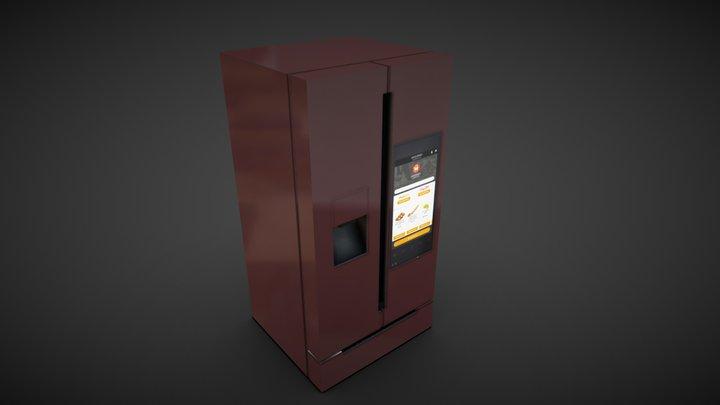 Smart fridge 3D Model