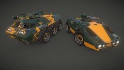 APC and Scout Car 3D Model