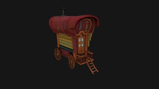 Gypsy Caravan 3D Model