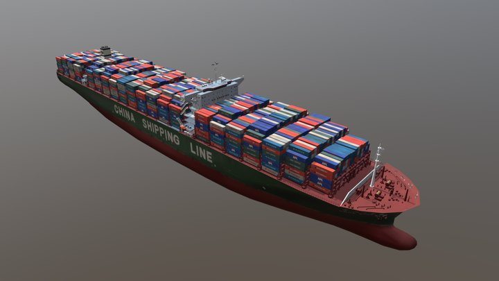 Container Ship: Star CSCL 3D Model