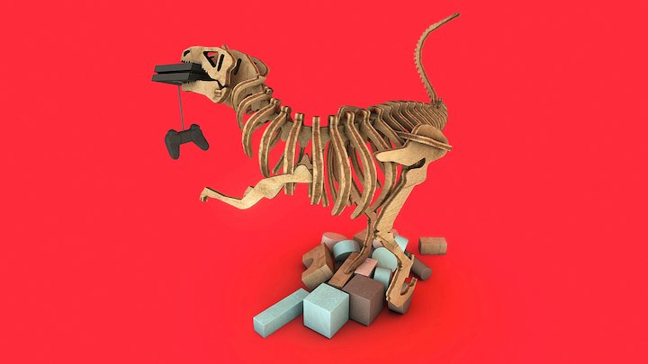 The revenge of the traditional toys 3D Model