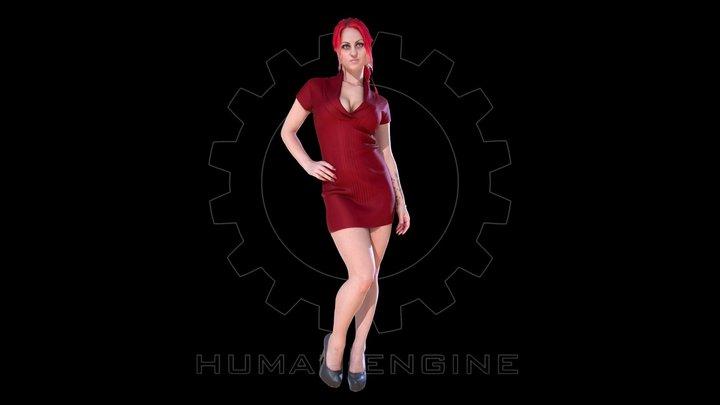 Female Scan - Sonya Dress 3D Model