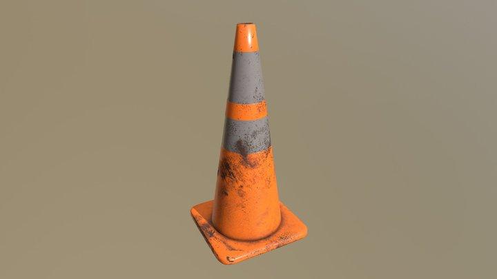 Traffic Cone (Worn 28 Inch) 3D Model