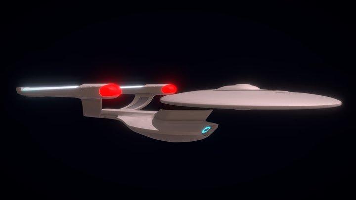 USS Enterprise B/C Fan Design Without textures 3D Model