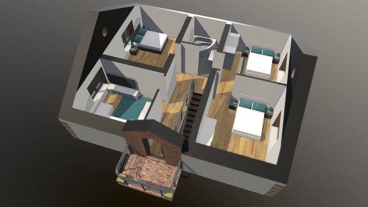 Проект «Белый» 2 этаж 3D Model