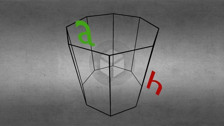 Sešstūra prizma 3D Model