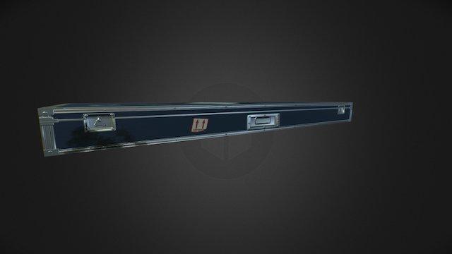 PBR Piano Flightcase 3D Model