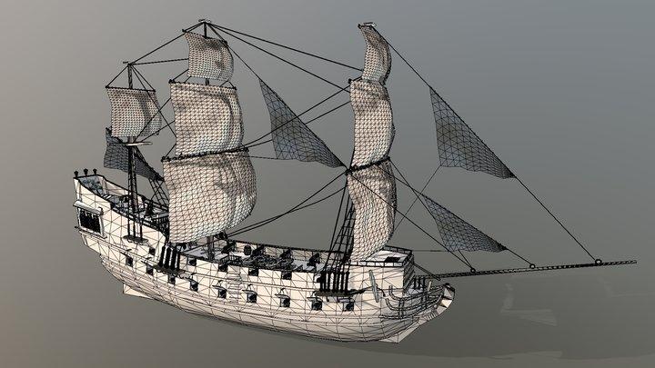Black Pearl 3D Model