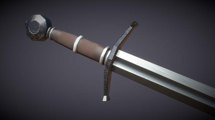 Worn Sword 3D Model