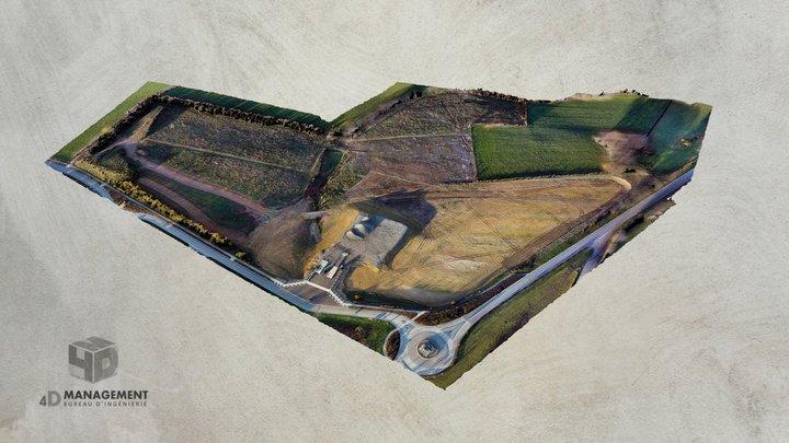 Levé de terrain par photogrammétrie aérienne 3D Model