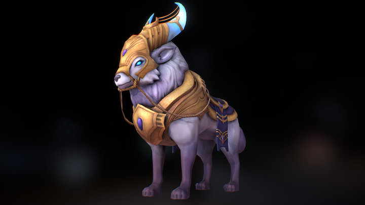 An MMO Game Character - Course Result 3D Model