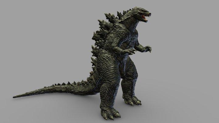 Godzilla 2019 Figurine 3D Scan 3D Model