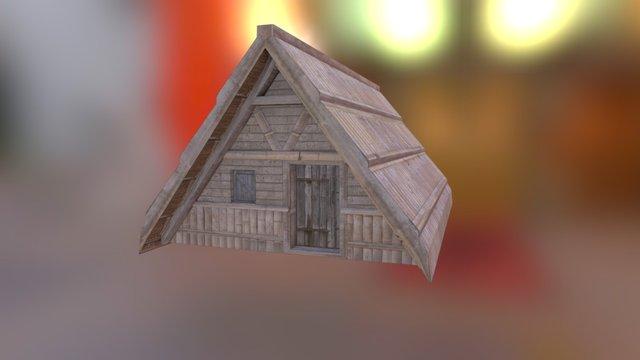 Bamboo Shack 3D Model