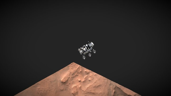 Perseverance Landing Path (Camera Tracked) 3D Model