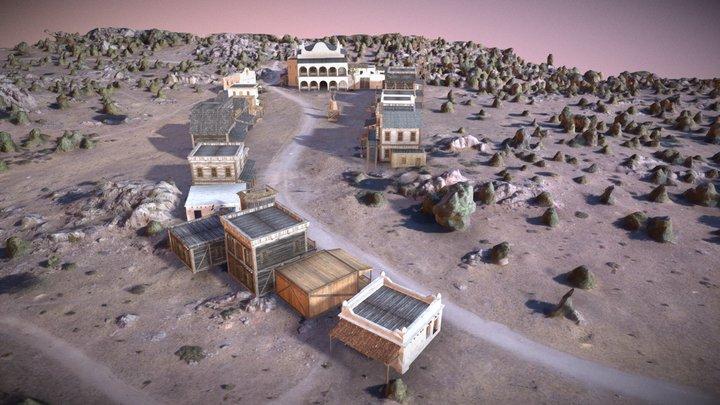 Golden City 3D Model