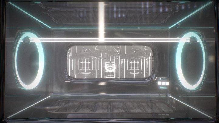 Sci-fi Assembly Line 3D Model