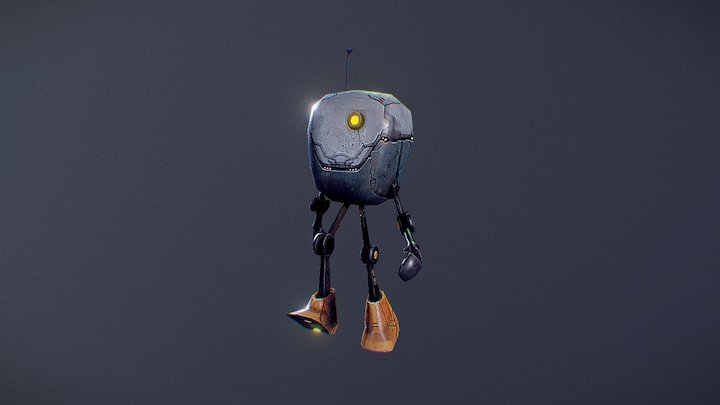 Big Head Robot 3D Model