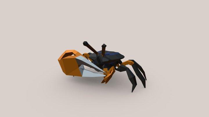 Fiddler crab 3D Model