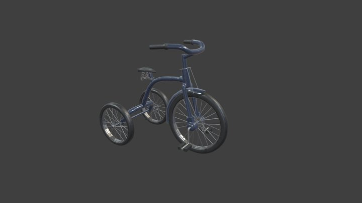 Tricycle LowPoly 3D Model