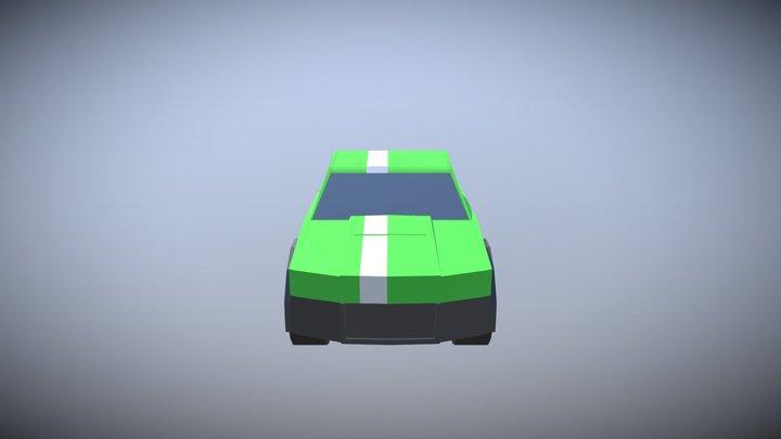 pickup truck w stripe 3D Model
