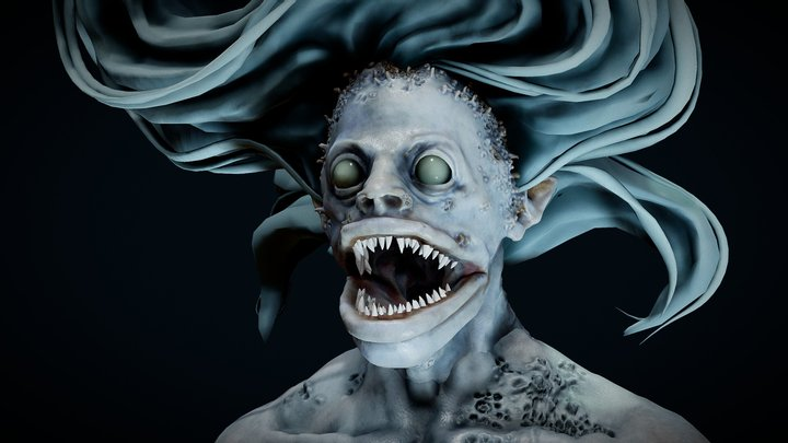 Creepy Mermaid 3D Model