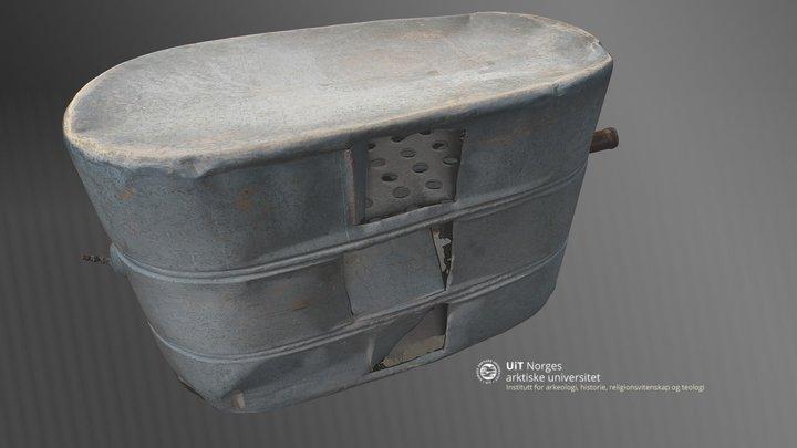 Bensintank fra flybåten 'Latham'. 3D Model