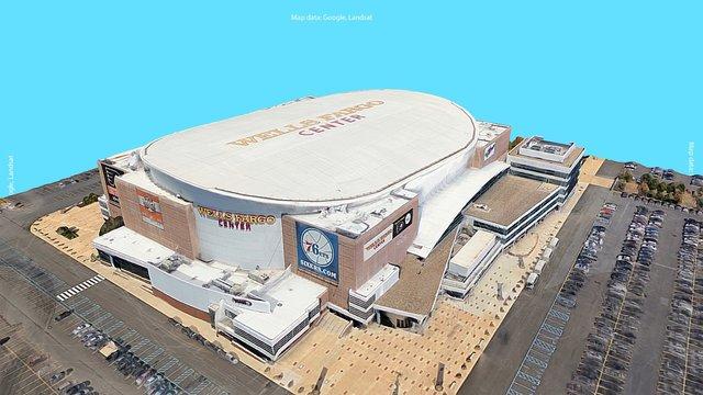 Google Earth 3D Export: Wells Fargo Center 3D Model