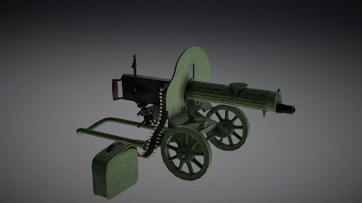 The machine gun maxim 3D Model