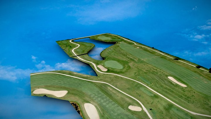 Golf Course from 197ft 3D Model