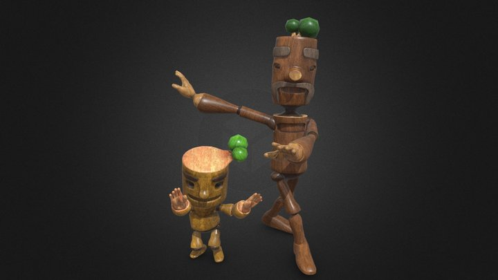 DAD&SON FOR MINI PORJECT BY KHUNMUANG 3D Model