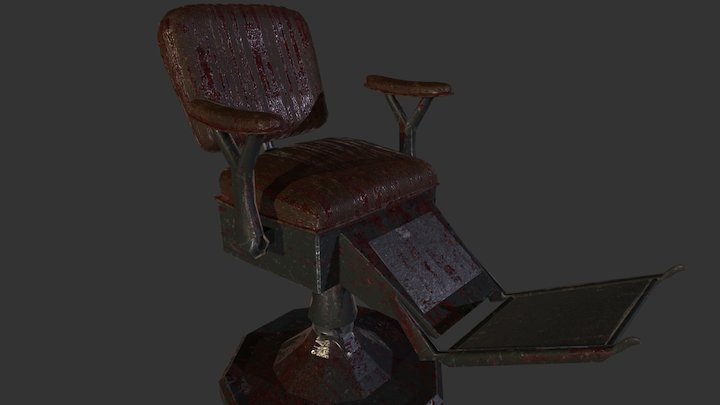 Bloody Torture Chair 3D Model
