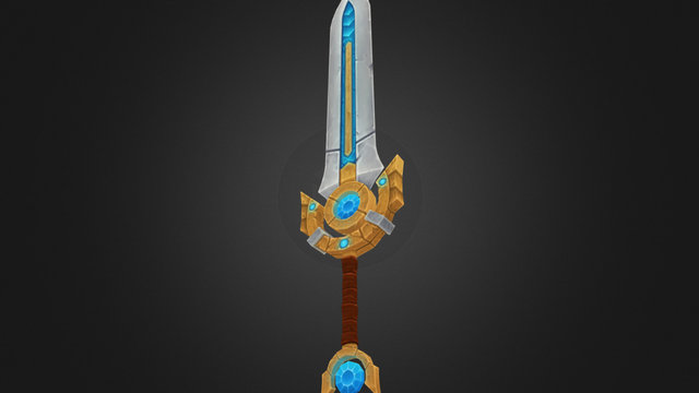 Fantasy Sword 3D Model