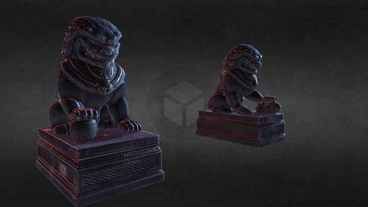 Chinese Lions/Dogs 3D Model