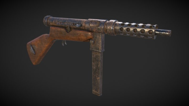 PBR Viet Cong Homemade SMG 3D Model
