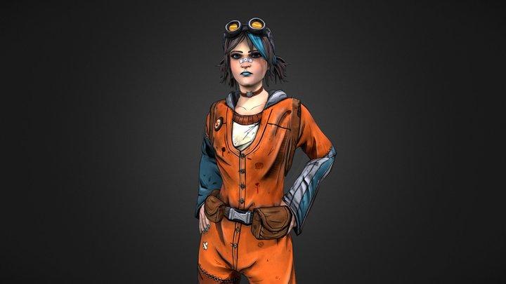 Ash - Borderlands Inspired Character 3D Model