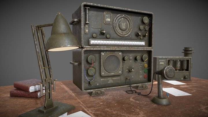 Old Style Military Radio 3D Model
