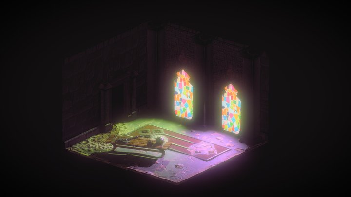 Isometric Dungeon Medieval 3D Model